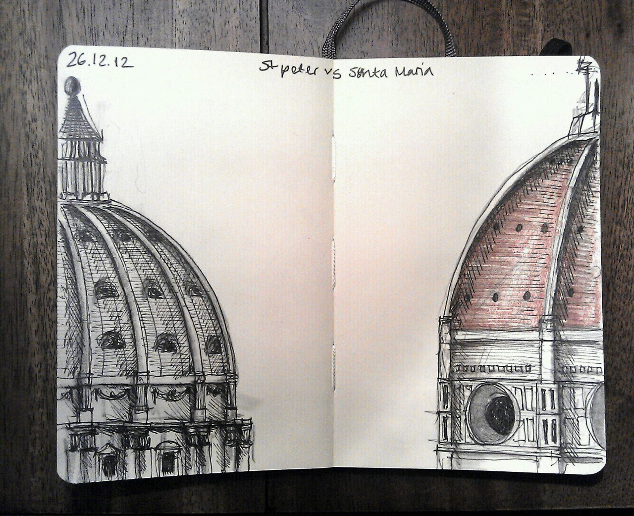 365 drawings later … day 330 … st peter vs santa maria