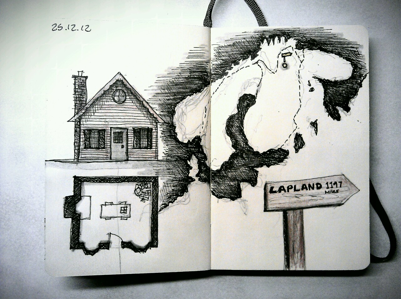 365 drawings later … day 329 … lapland