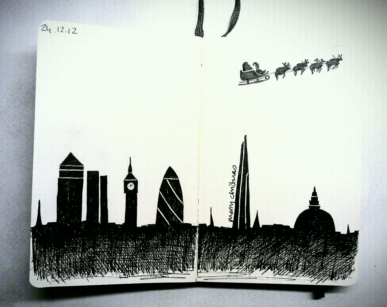 365 drawings later … day 328 … merry christmas