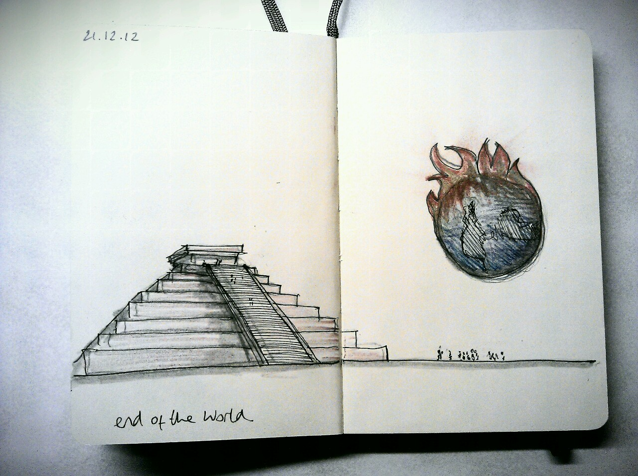 365 drawings later … day 325 … end of the world
