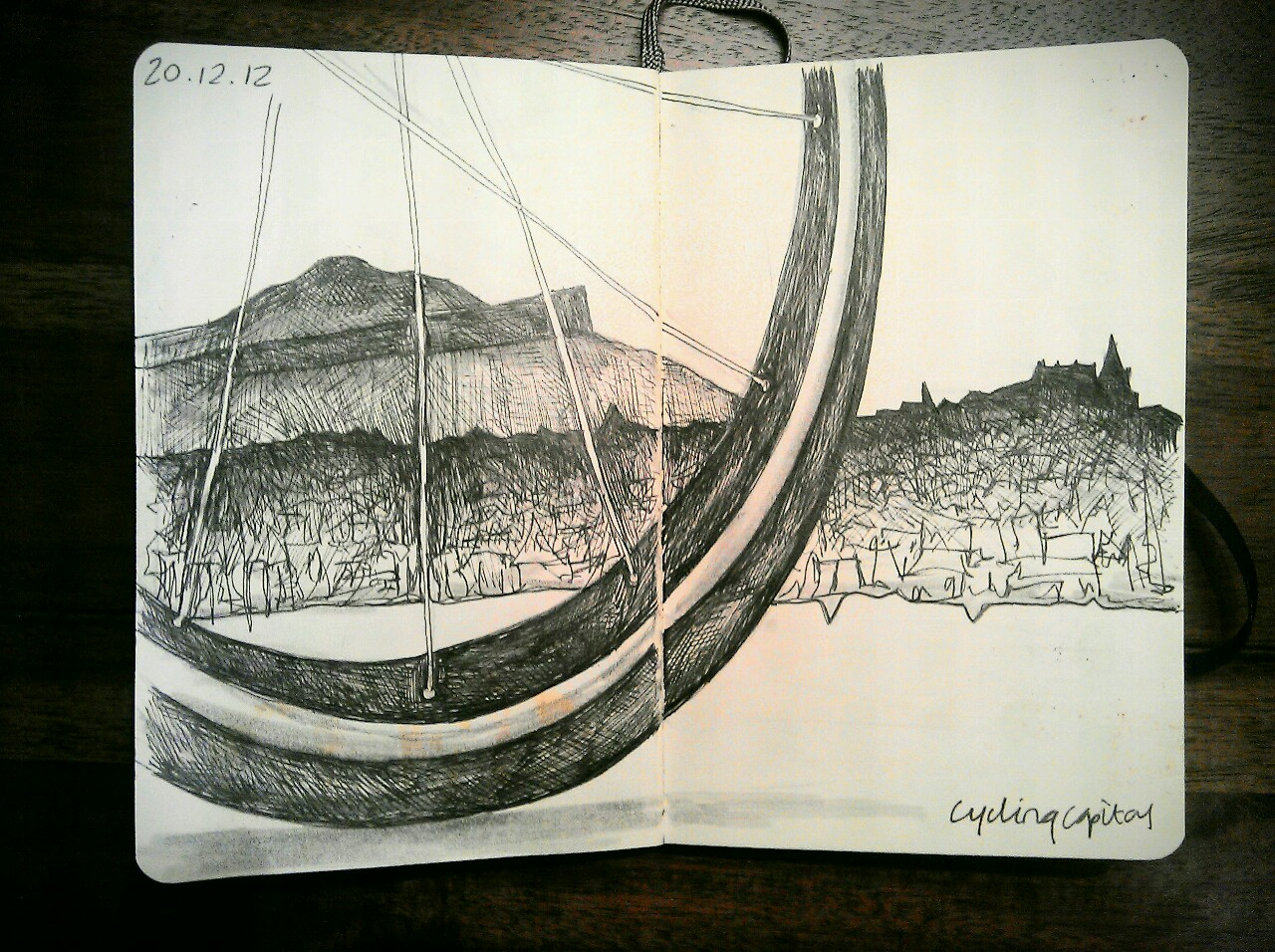 365 drawings later … day 324 … cycling capital