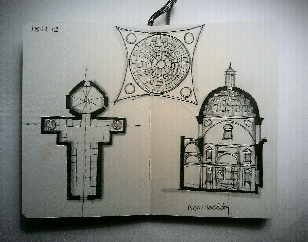 365 drawings later … day 322 … new sacristy
