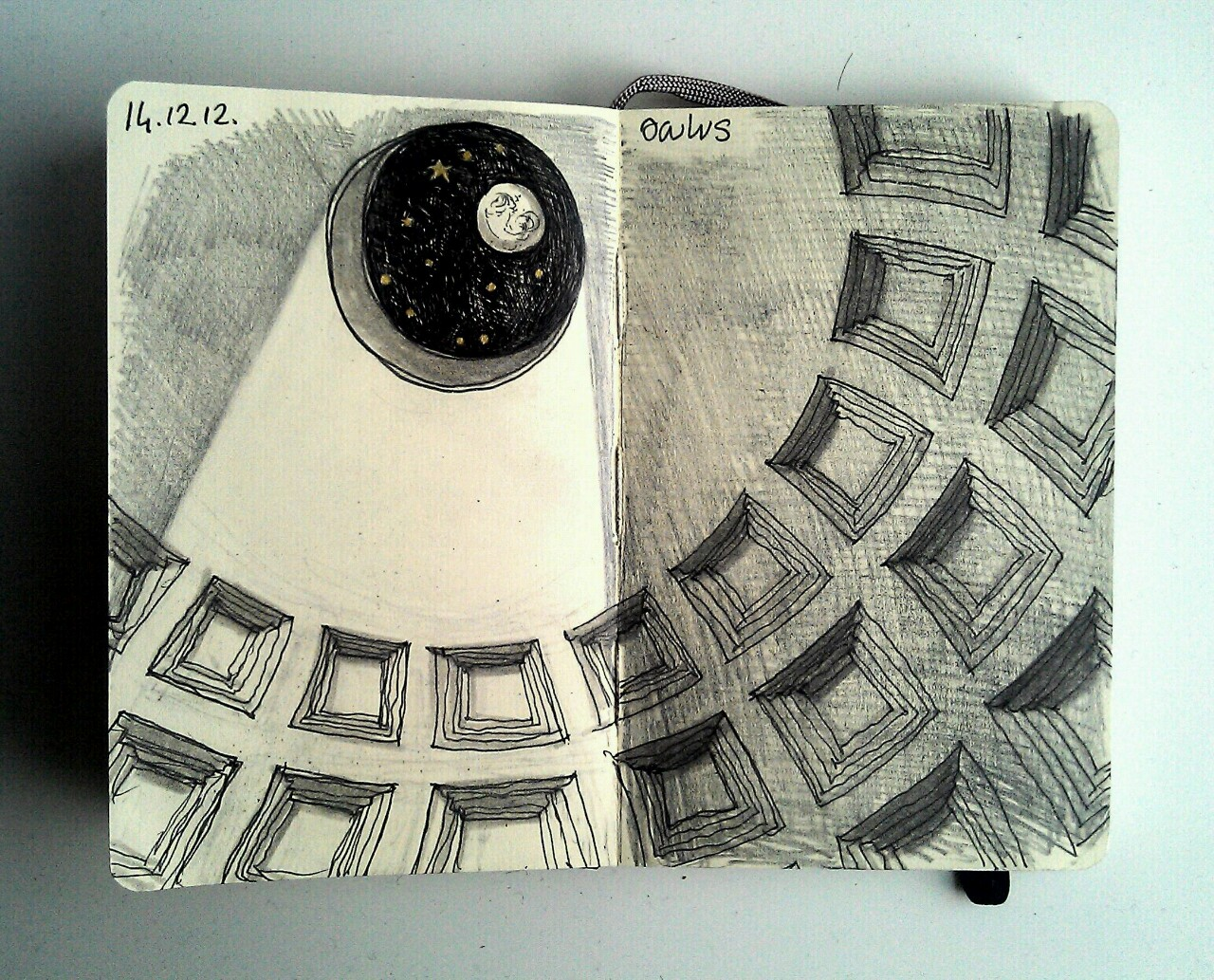 365 drawings later … day 318 … oculus