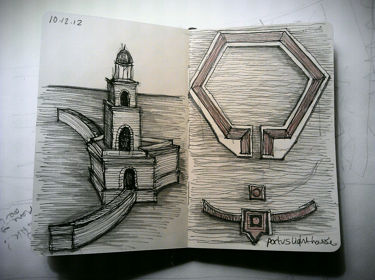 365 drawings later … day 314 … portus lighthouse