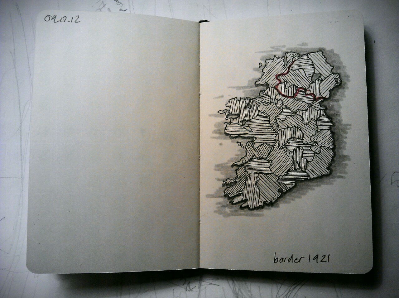 365 drawings later … day 313 … border 1921