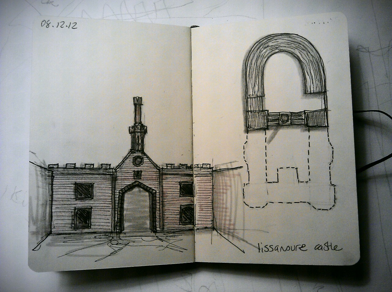 365 drawings later … day 312 … lissanoure castle
