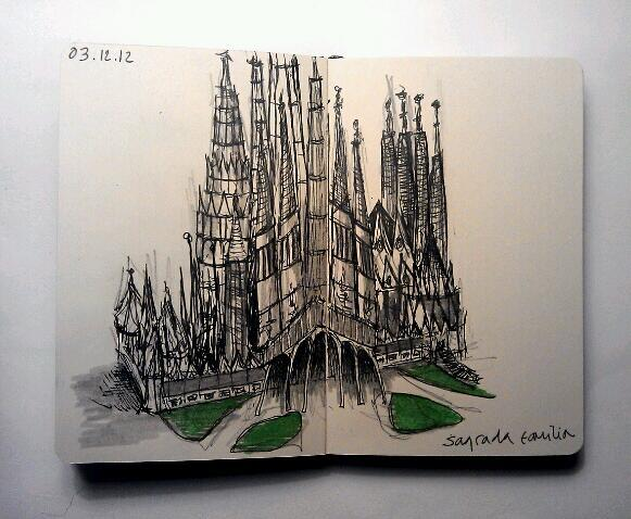 365 drawings later … day 307 … sagrada familia