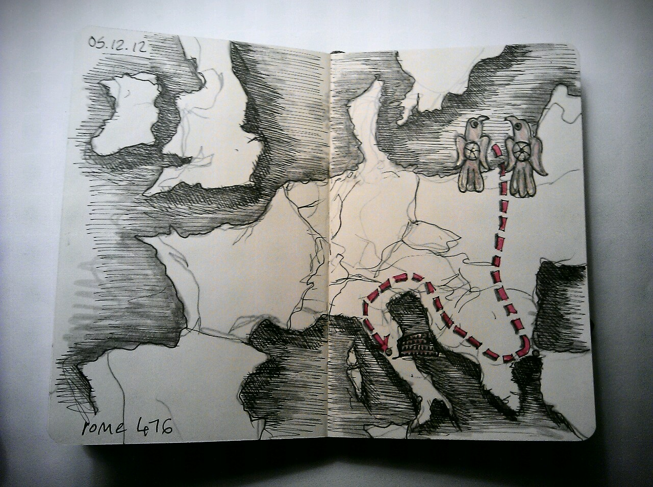 365 drawings later … day 309 … rome 476