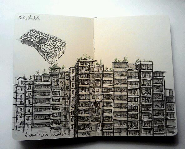 365 drawings later … day 306 … kowloon walled