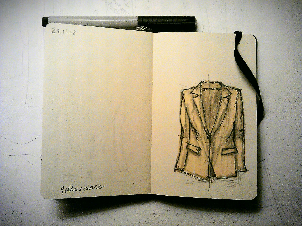 365 drawings later … day 303 … yellow blazer