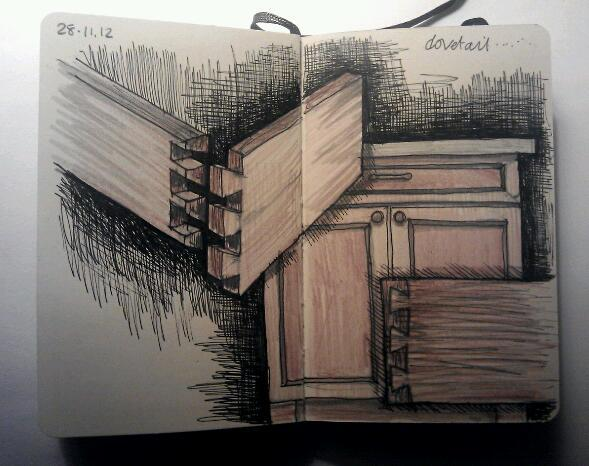 365 drawings later … day 302 … dovetail