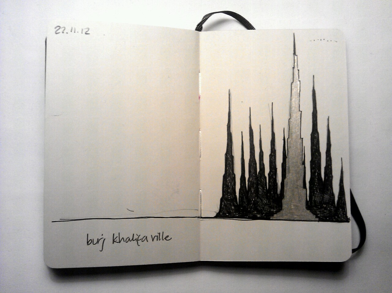 365 drawings later … day 296 … burj khalifa ville