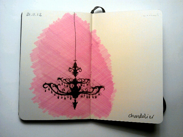 365 drawings later … day 295 … chandelier