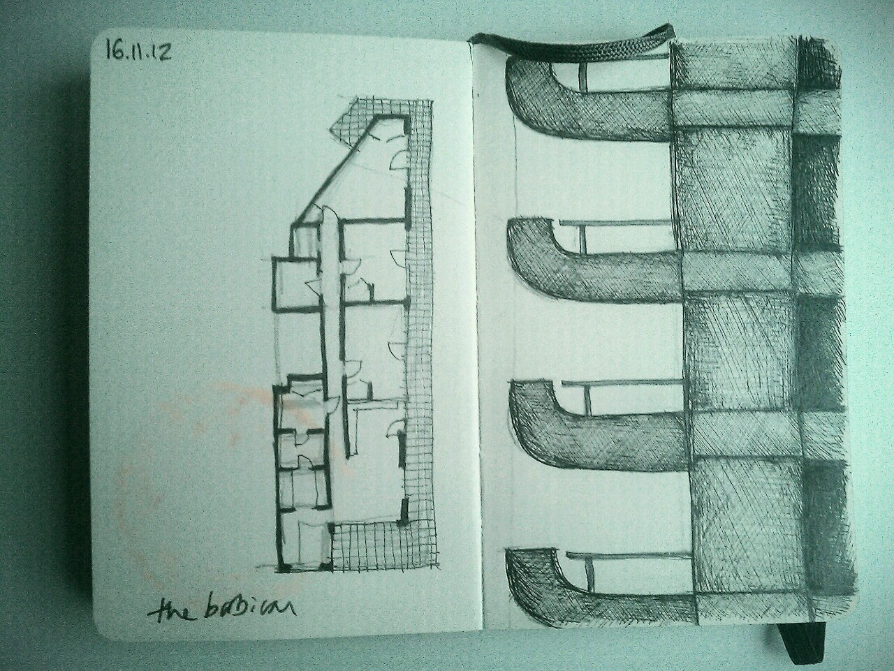 365 drawings later … day 290 … the barbican [lauderdale tower]