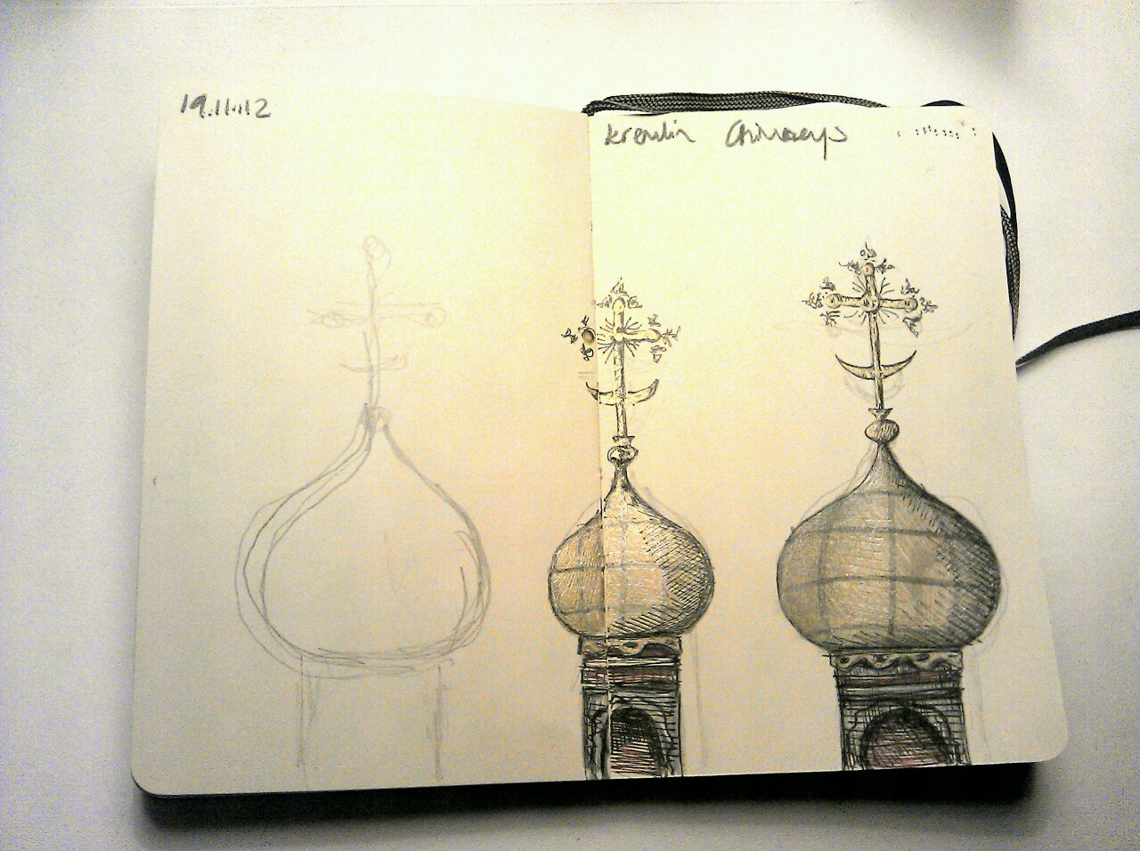 365 drawings later … day 293 … kremlin chimneys