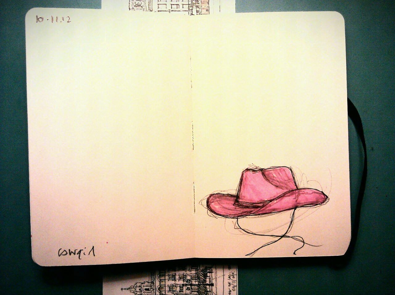 365 drawings later … day 284 … cowgirl