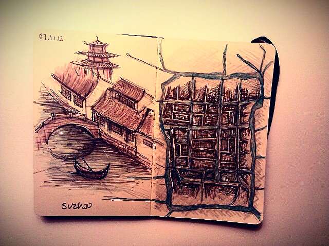 365 drawings later … day 281 … suzhou [venice of the east]