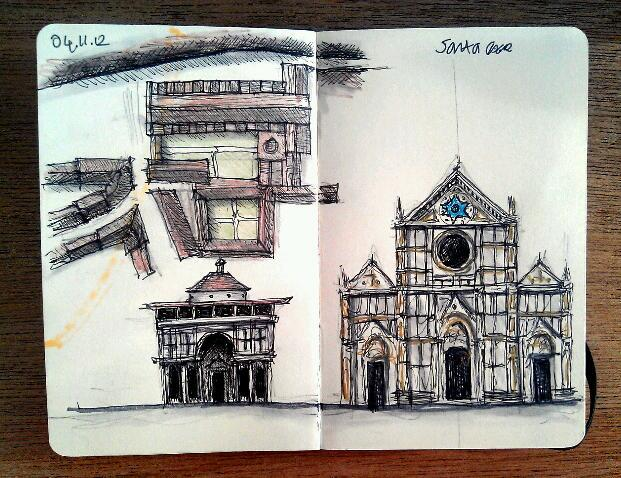 365 drawings later … day 278 … santa croce