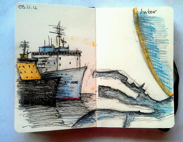 365 drawings later … day 277 … harbour