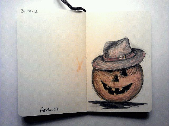 365 drawings later … day 274 … fedora