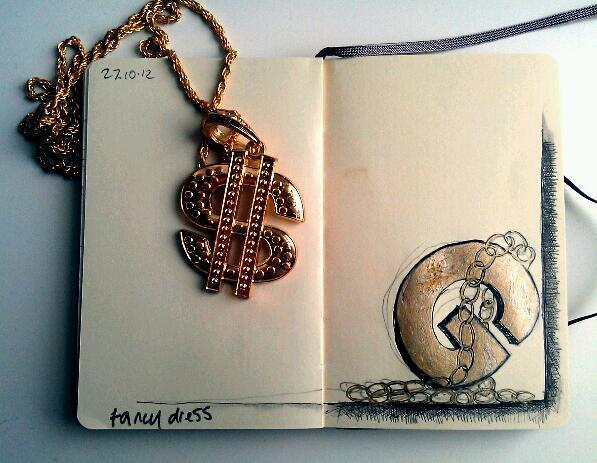 365 drawings later … day 270 … fancy dress