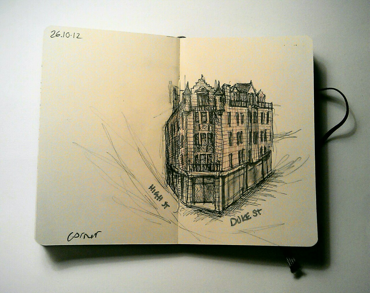 365 drawings later … day 269 … corner