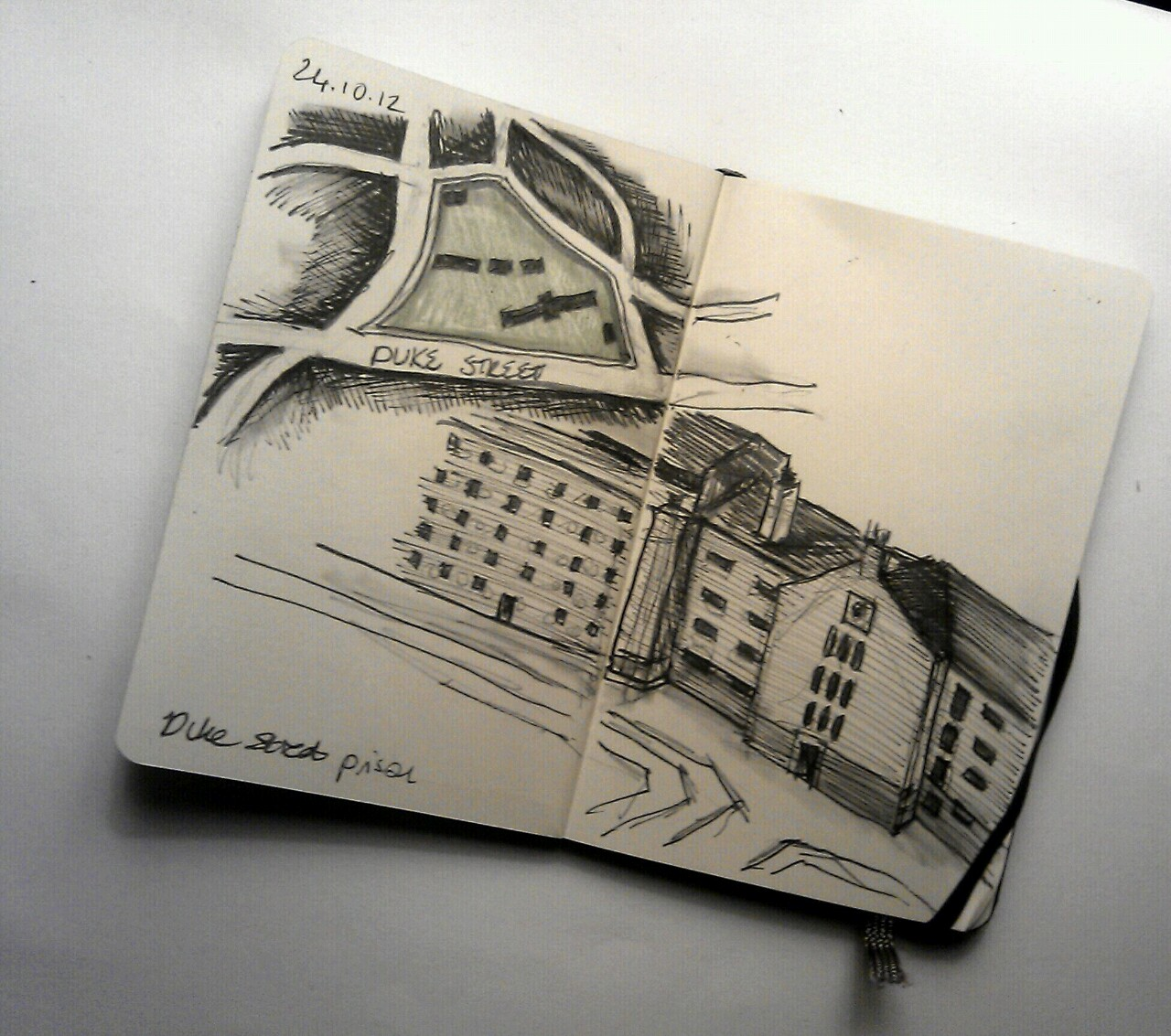 365 drawings later … day 267 … duke street prison