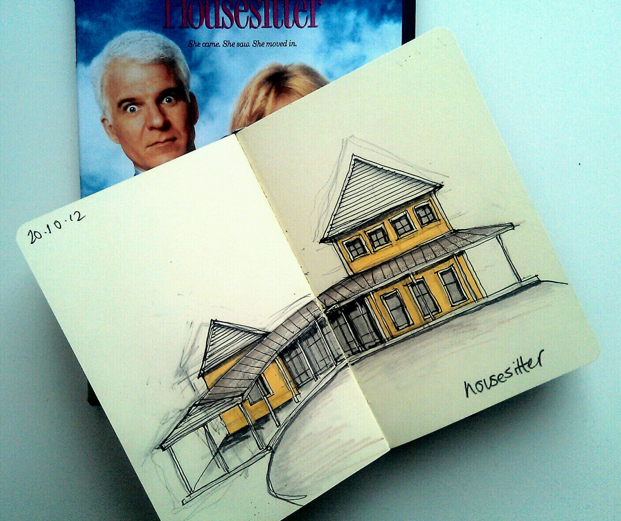 365 drawings later … day 263 … housesitter