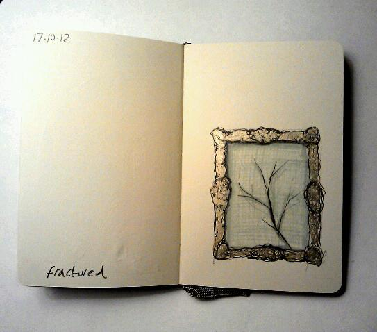 365 drawings later … day 260 … fractured [but not broken]