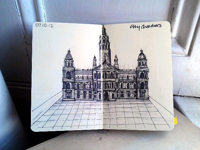 365 drawings later … day 250 … city chambers