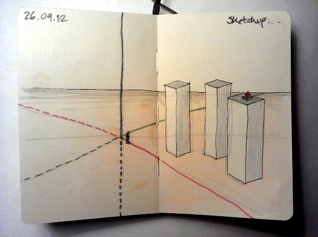 365 drawings later … day 239 … sketchup