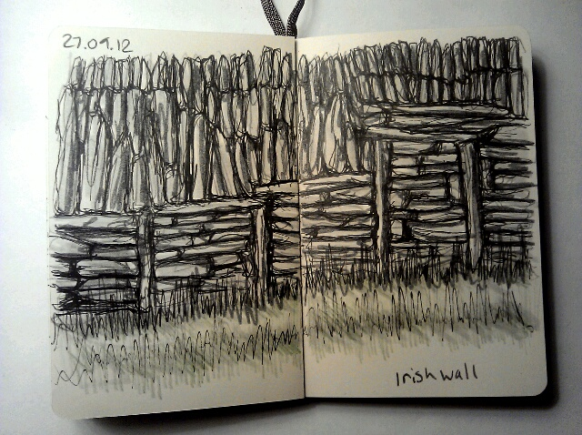 365 drawings later … day 240 … irish wall