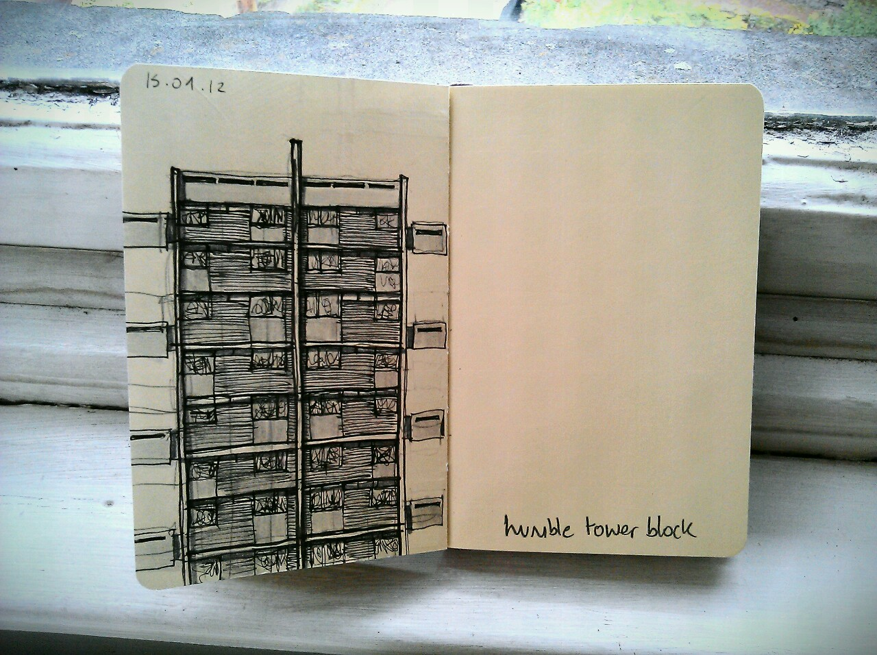 365 drawings later … day 228 … humble tower block