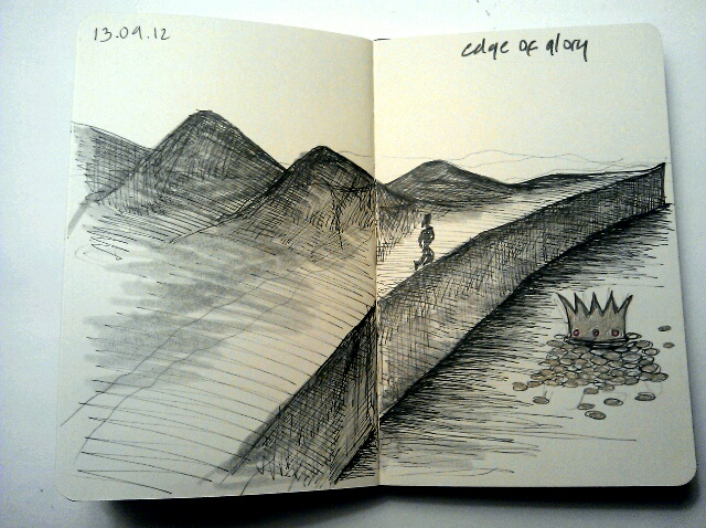 365 drawings later … day 226 … edge of glory