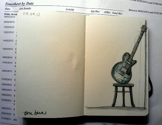 365 drawings later … day 222 … the blues