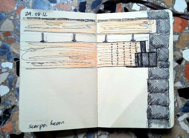 365 drawings later … day 211 … scarpa beam