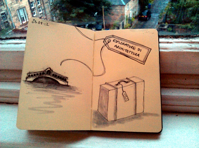365 drawings later … day 205 … esploratore di architettura [packing]