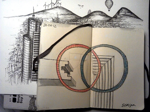 365 drawings later … day 202 … scarpa