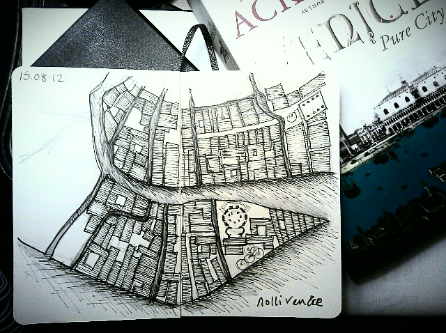 365 drawings later … day 197 … nolli venice