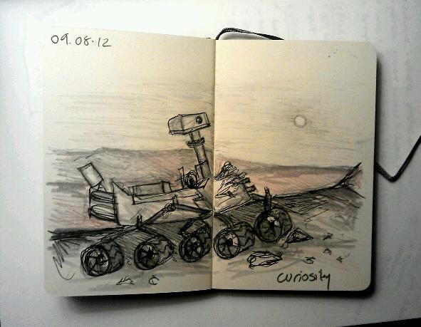 365 drawings later … day 191 … curiosity