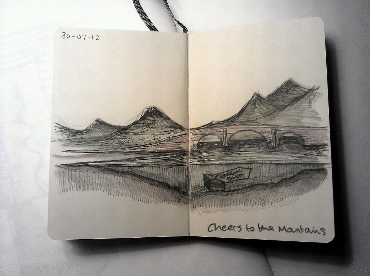 365 drawings later … day 181 … cheers to the mountains