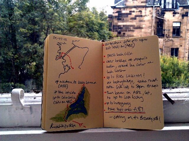 365 drawings later … day 180 … kirklee to skye