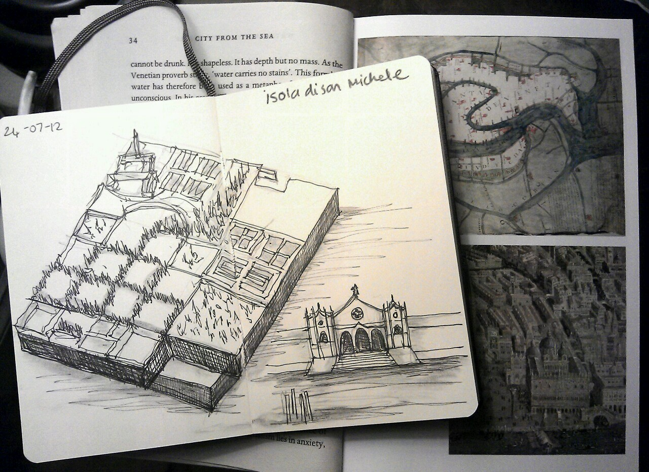 365 drawings later … day 175 … isola di san michele