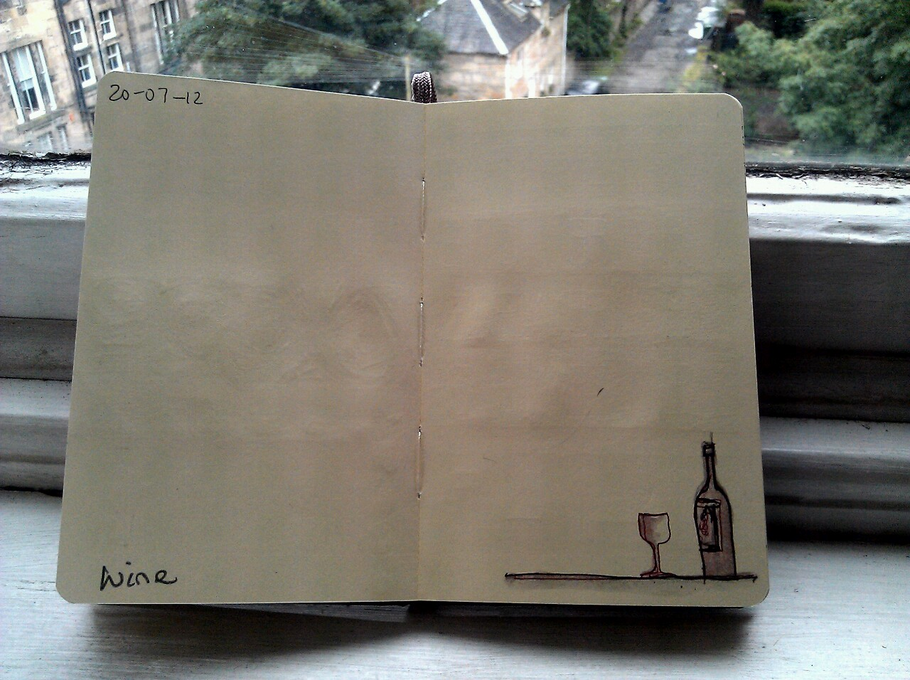 365 drawings later … day 171 … wine
