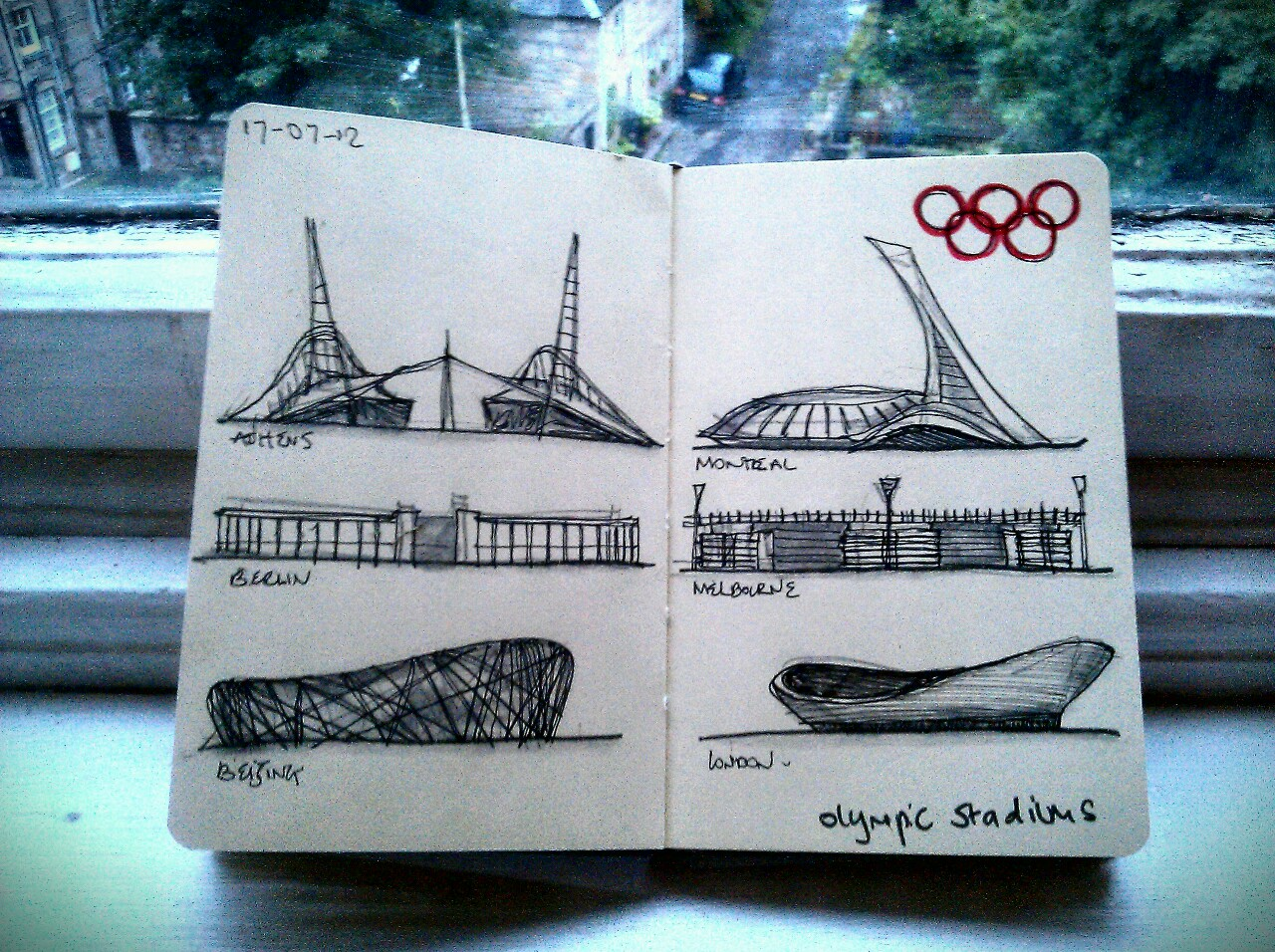 365 drawings later … day 168 … olympic stadiums