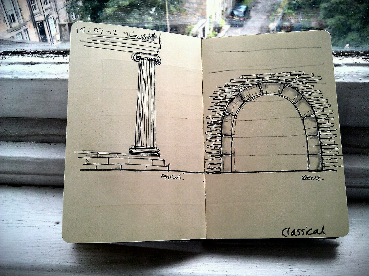365 drawings later … day 166 … classical