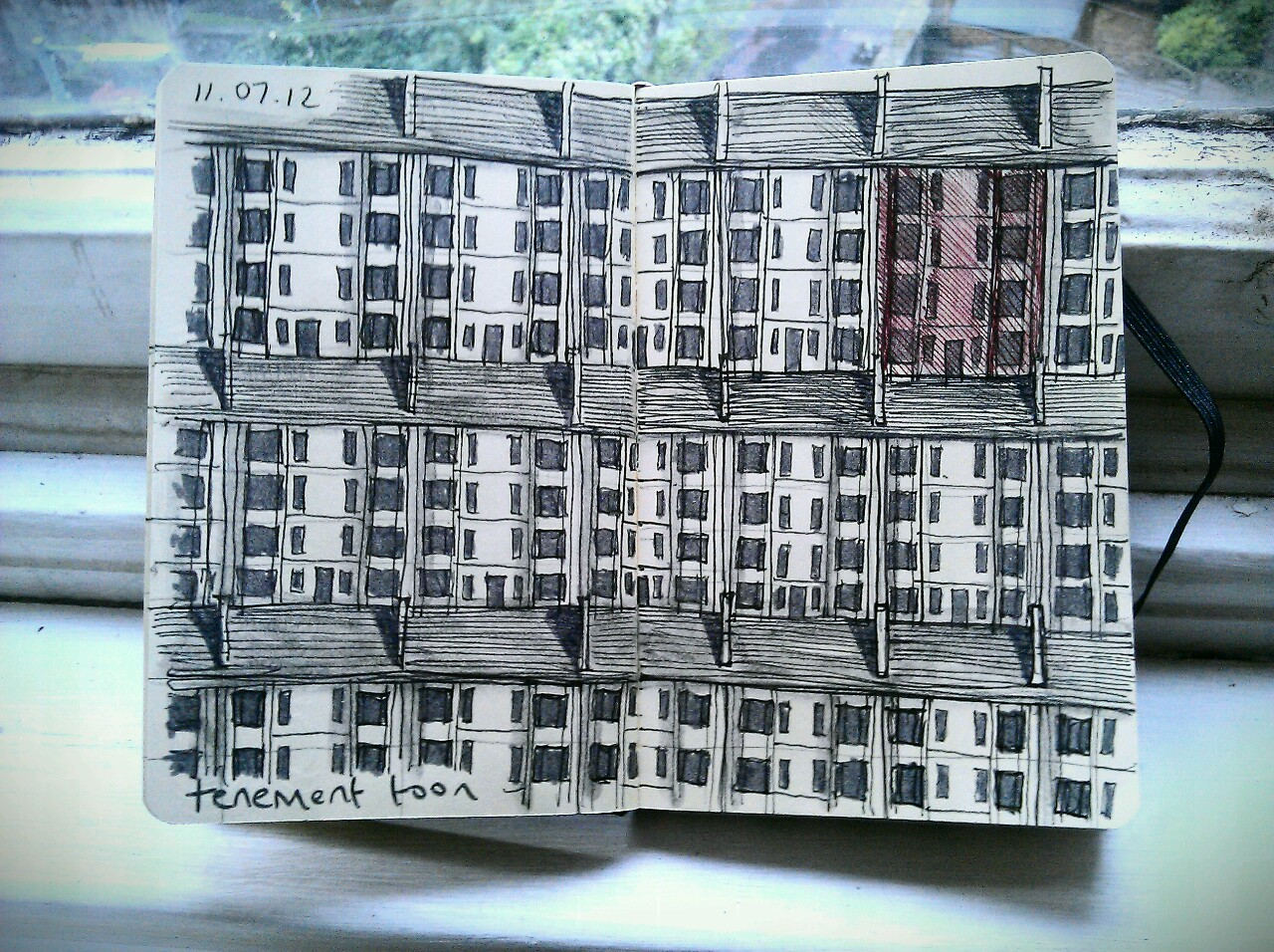365 drawings later … day 162 … tenement toon