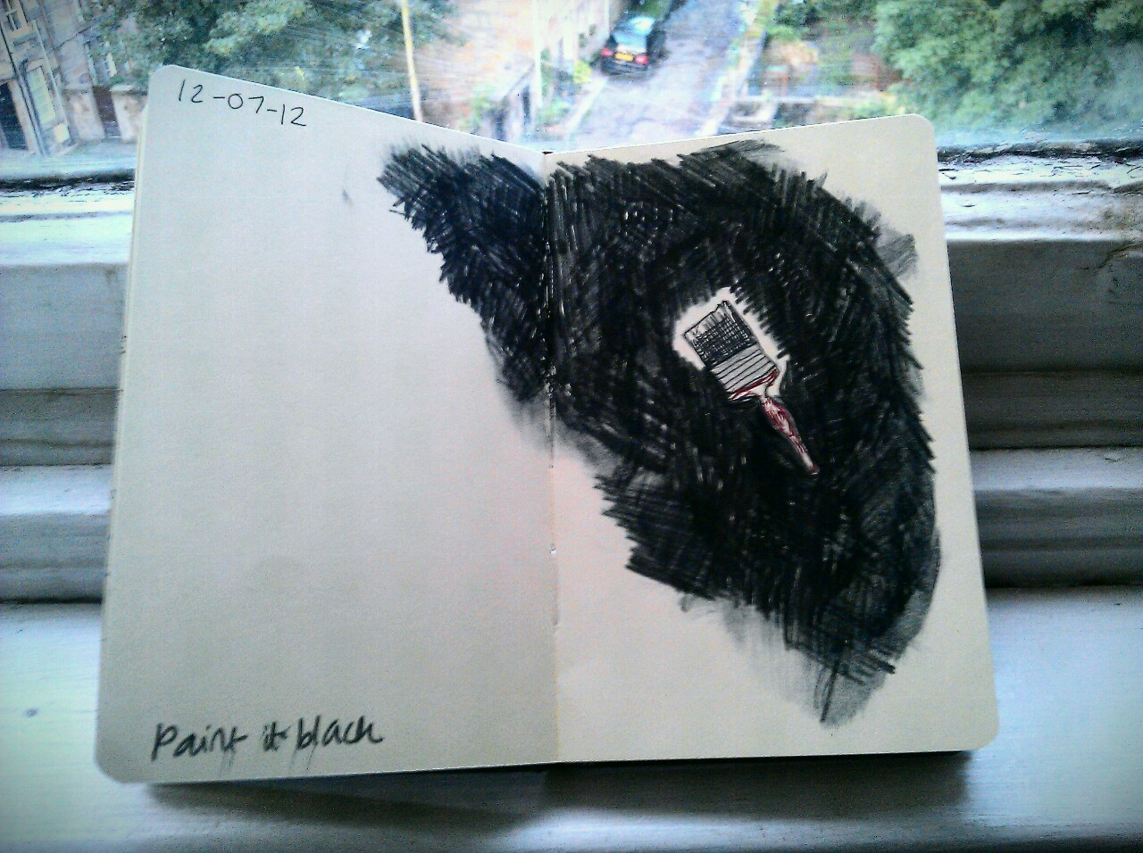365 drawings later … day 163 … paint it black