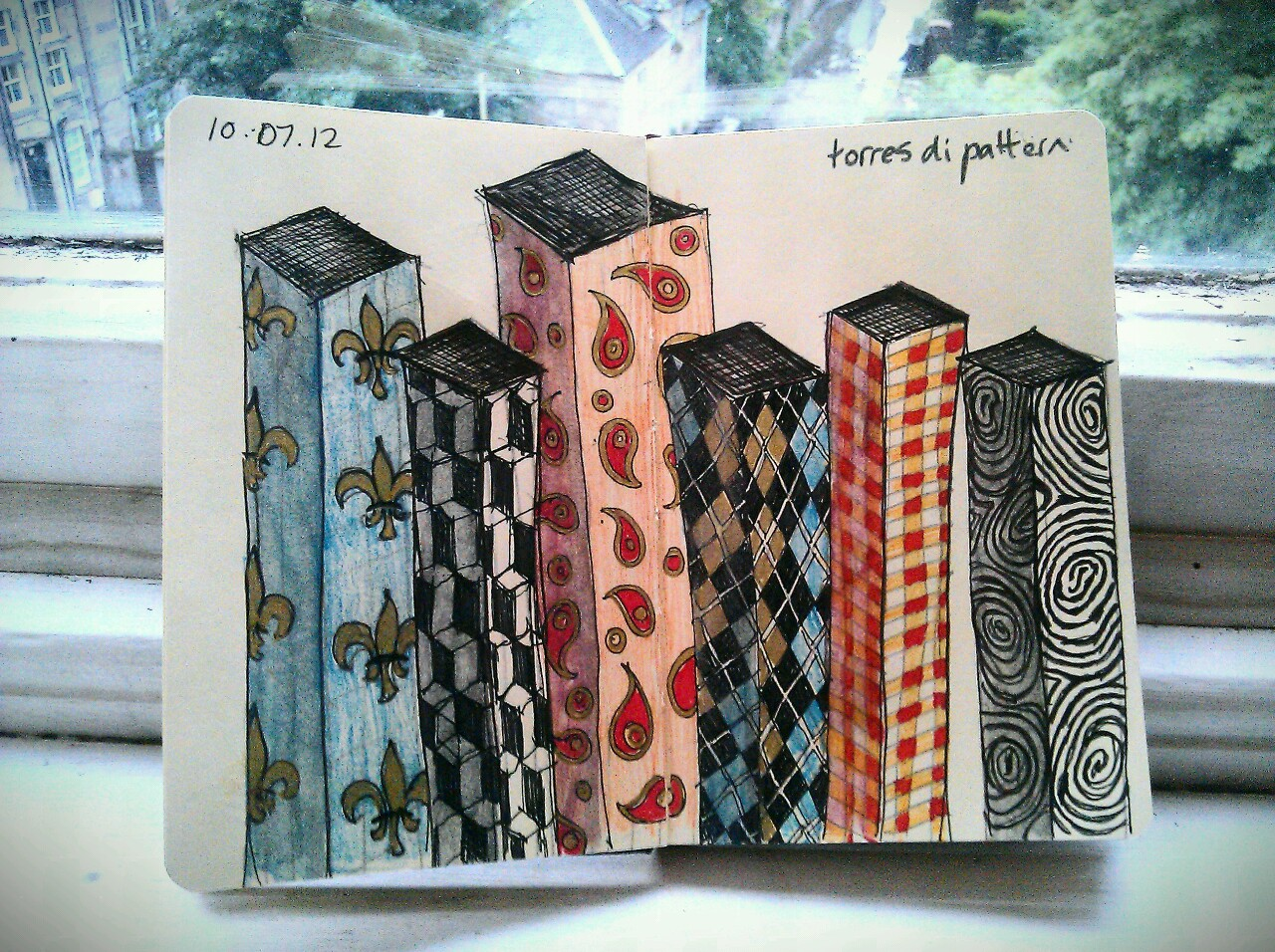 365 drawings later … day 161 … torres di pattern