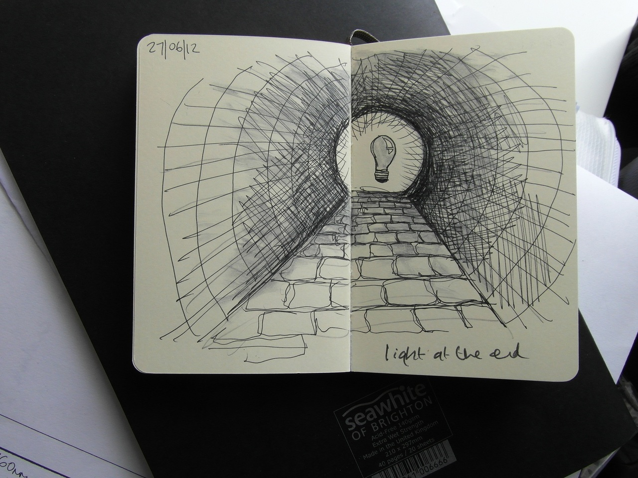 365 drawings later … day 148 … light at the end